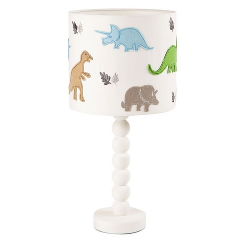 Lámpara con apliques de dinosaurios