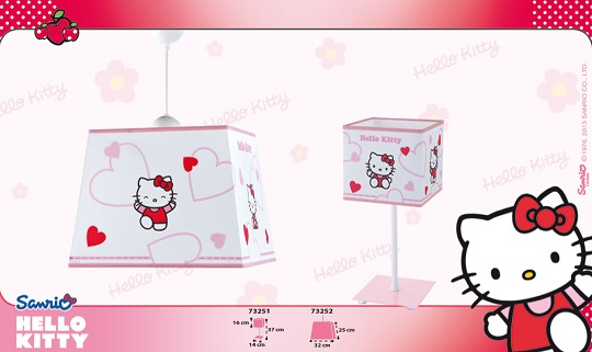Lámparas infantiles de Hello Kitty
