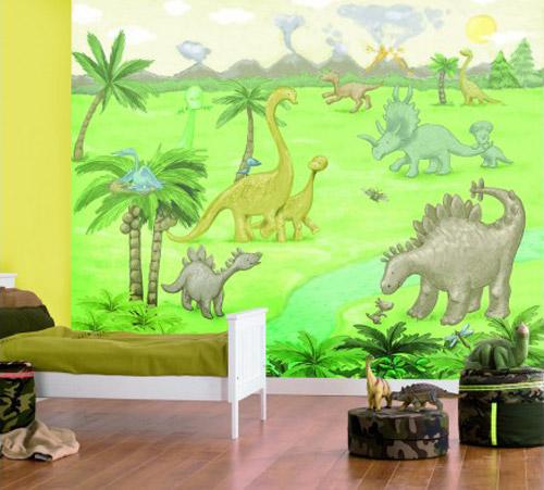 Murales De Dinosaurios Para Cuartos Infantiles