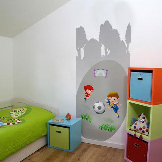 Murales de f tbol para ni os habitaciones tematicas - Murales para habitaciones infantiles ...