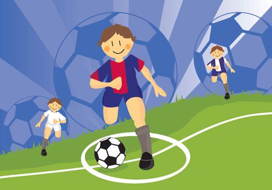 Mural infantil Fútbol