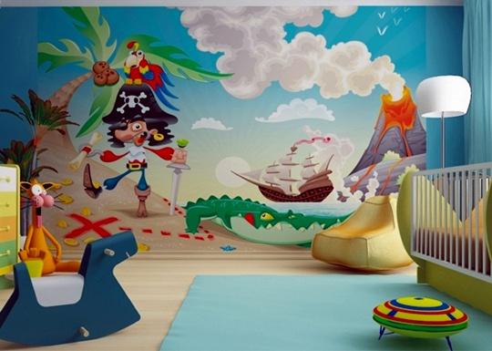 fotomural infantil pirata habitaciones tematicas. Black Bedroom Furniture Sets. Home Design Ideas