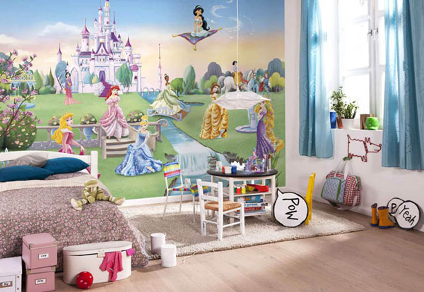 Mural princesas disney habitaciones tematicas Murales para recamaras matrimoniales