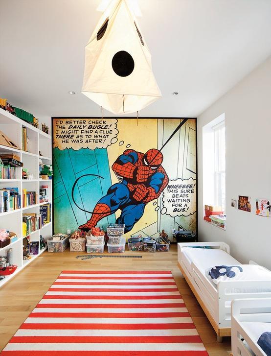Ideas para decorar un dormitorio de Spiderman