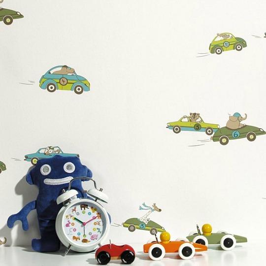 Papel pintado coches, colección Wonderland de Caselio