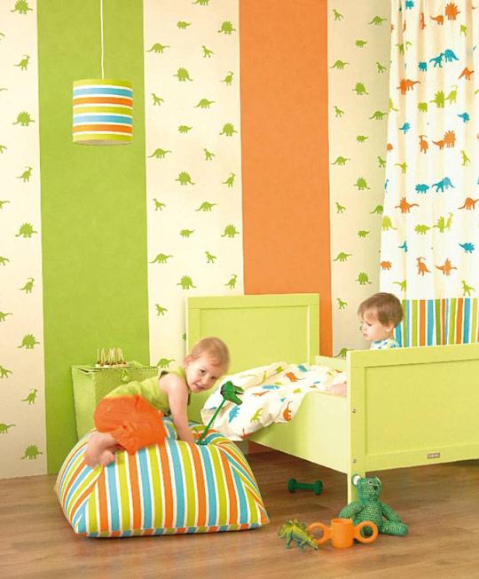 Papel pintado de dinosaurios habitaciones tematicas - Papel para habitaciones ...