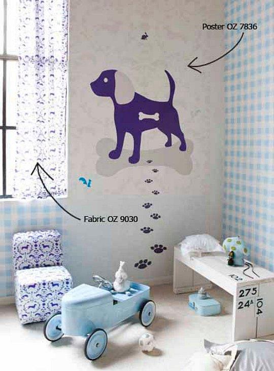 Habitación para peques con mascota