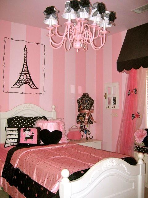 Dormitorios juveniles tema par s habitaciones tematicas - Habitaciones decoradas juveniles ...