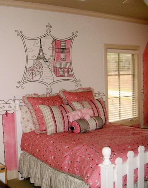 Dormitorios juveniles tema París