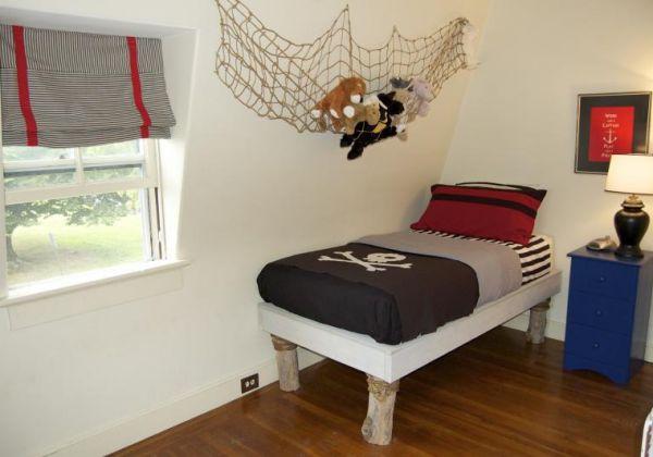 Dormitorio infantil con diseño pirata