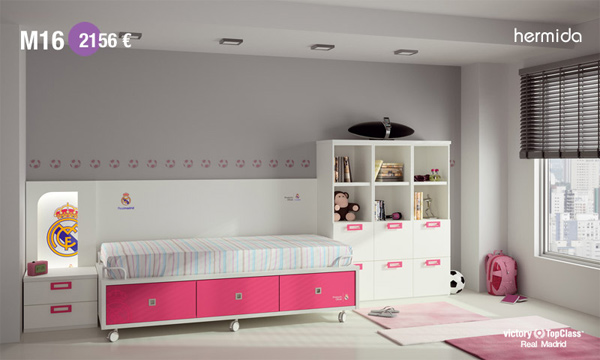 Habitaci n infantil real madrid habitaciones tematicas for Habitacion cuadruple madrid