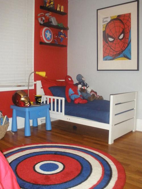 Fotos de habitaciones tem ticas de superh roes - Habitaciones infantiles ninos 2 anos ...
