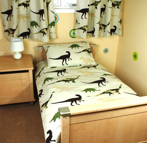 Funda nórdica y cortina de Dinosaurios