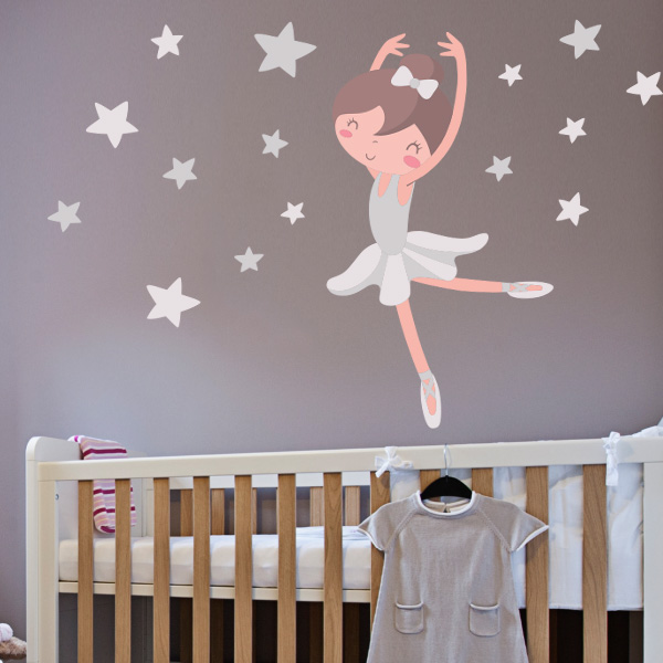 Habitaciones ballet decoracion ballet for Decoracion pared bebes