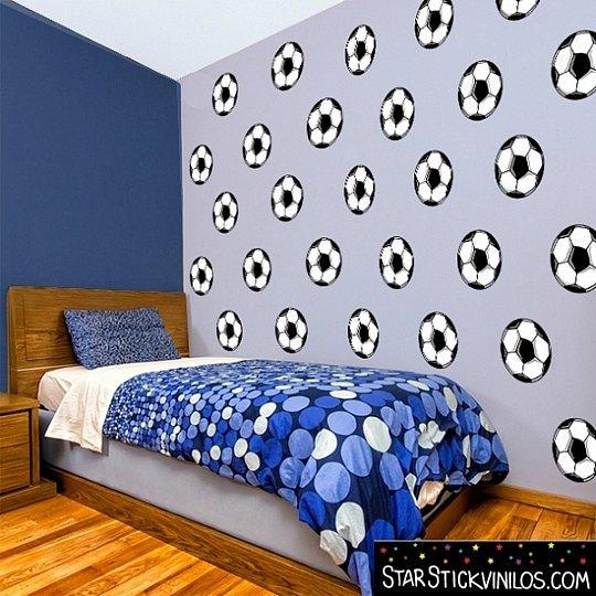 Vinilo ideal para la habitaci n de un futbolista for Vinilos juveniles chico