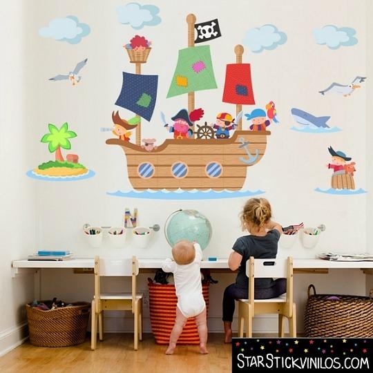 Vinilos piratas ideales para habitaciones tem ticas habitaciones tematicas - Vinilos para habitacion de bebes ...