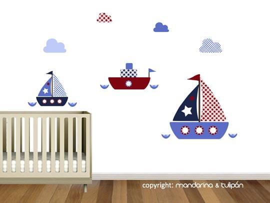 Vinilo infantil barcos