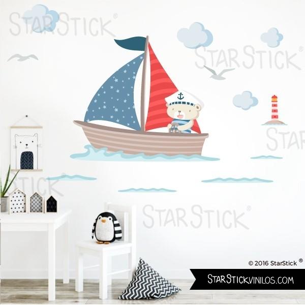 vinilo-barquita-osito-marinero-rojo