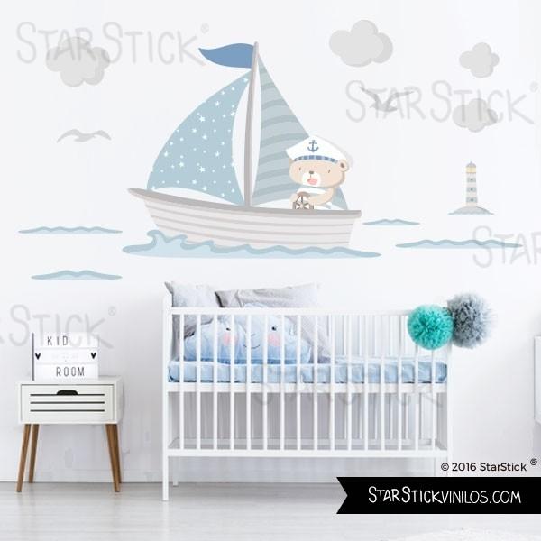 Vinilos marineros para habitaciones de bebés y niños | Habitaciones ...