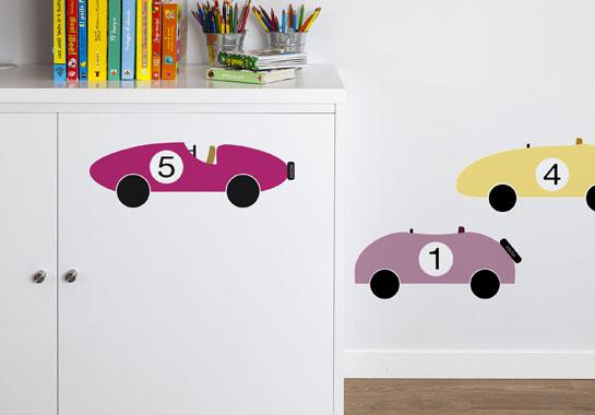 Vinilos decorativos infantiles coches habitaciones tematicas for Vinilos muebles infantiles