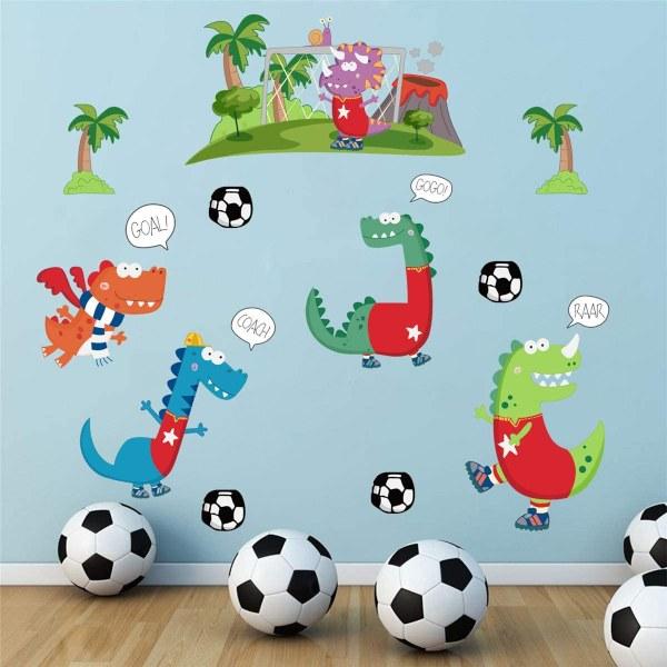 Vinilo equipo futbolistas dinosaurios