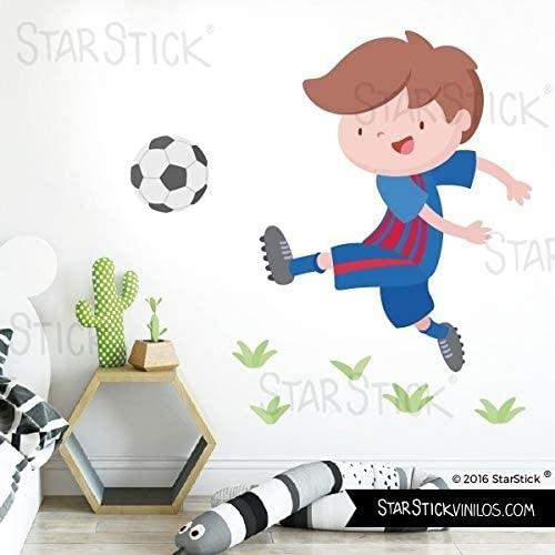 Vinilo infantil temático jugador con balón