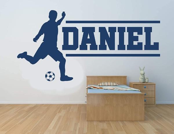 Vinilo infantil futbolista con nombre