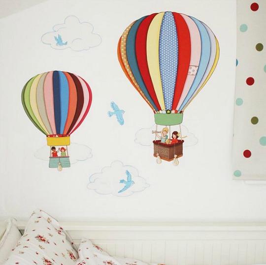 Decorar habitaciones de bebés con Globos Aerostáticos