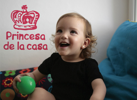 Vinilo Princesa de la casa