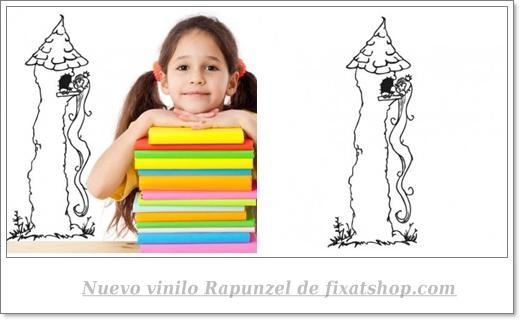 Vinilo infantil Rapunzel