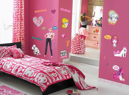 Decoración habitación infantil Barbie