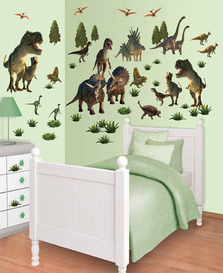 M s dinosaurios para las habitaciones infantiles for Vinilos para piezas