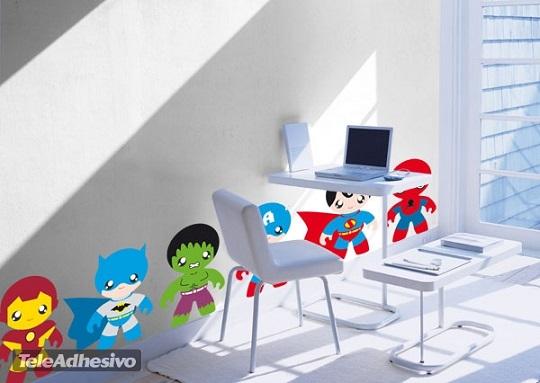 Kit vinilos Superhéroes