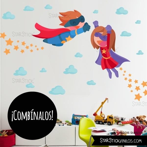 Vinilo Superhéroe y Superheroina
